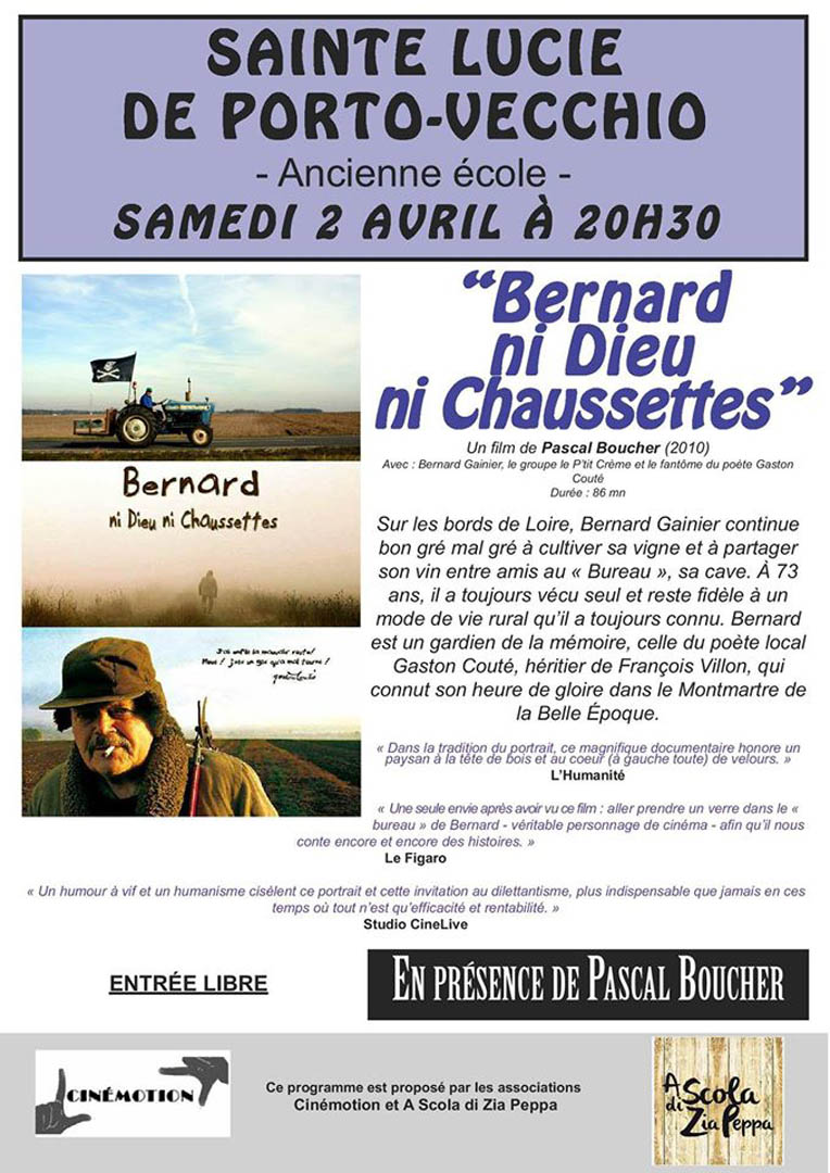 Documentaire bernard ni dieu ni chaussettes samedi 2 - Office tourisme sainte lucie de porto vecchio ...