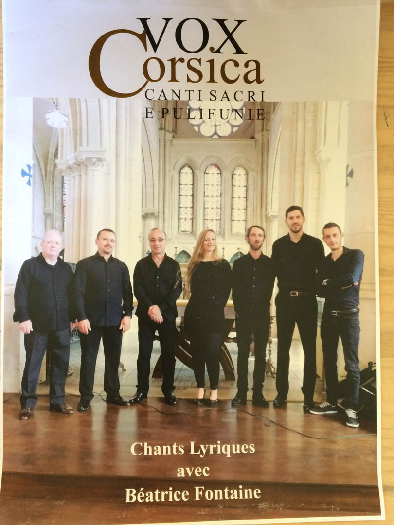 Concert vox corsica dimanche 6 ao t 2017 zonza - Office tourisme sainte lucie de porto vecchio ...