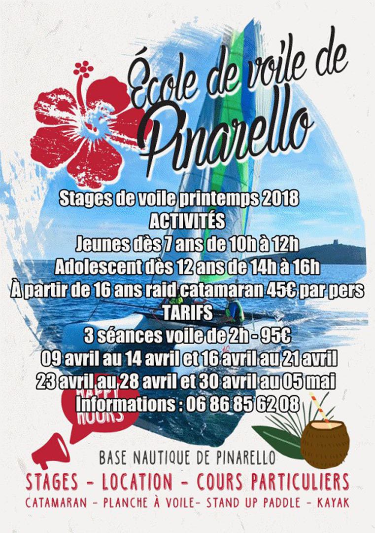 stages voile printemps 2018