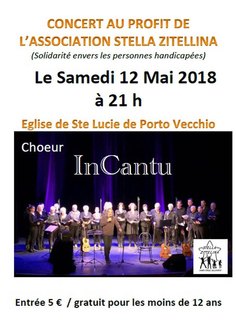 Affiche concert InCantu Samedi 12 Mai