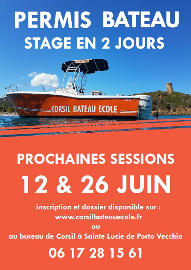 Affiche permis bateau Juin 2018
