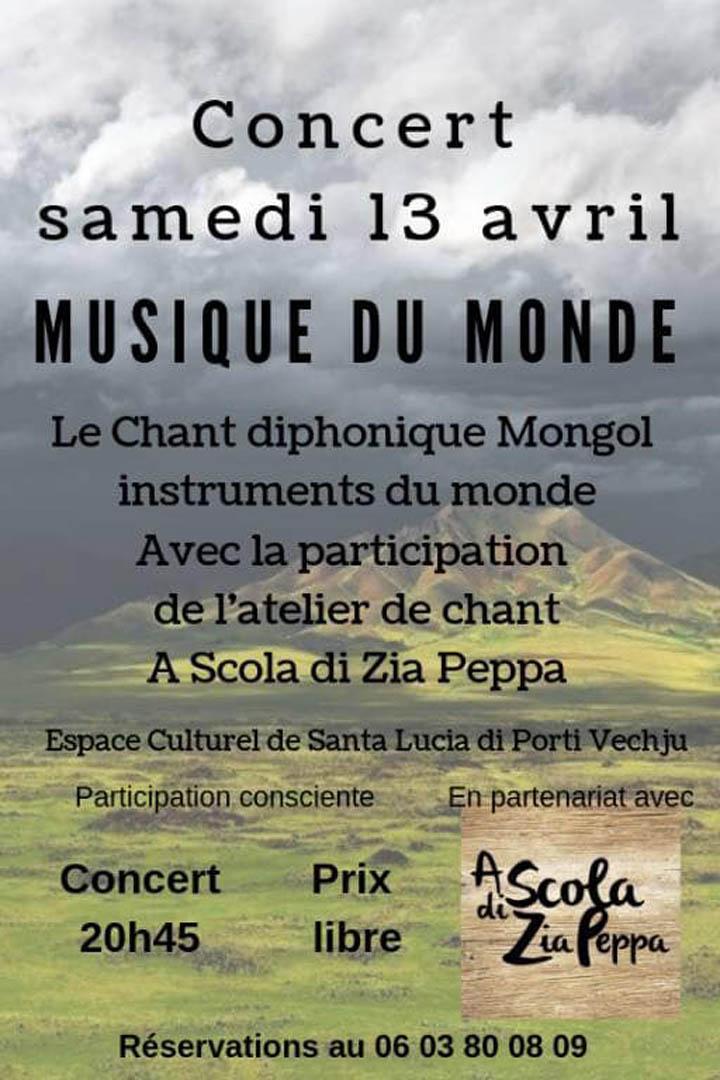 Affiche concert Chant Diphonique mongol
